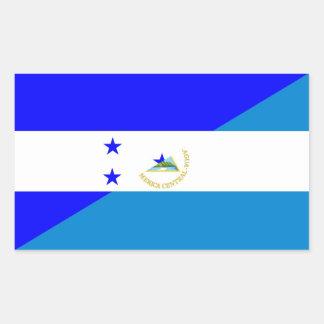 Sticker Rectangulaire demi de symbole de pays de drapeau du Honduras