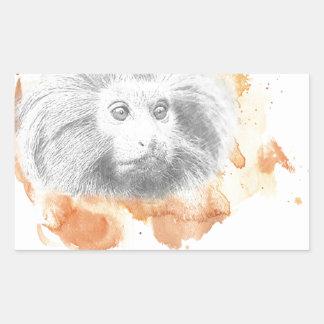 Sticker Rectangulaire Démon d'or de singe - ses matériaux foncés