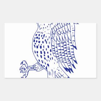 Sticker Rectangulaire dessin de marche Pointu-shinned de faucon