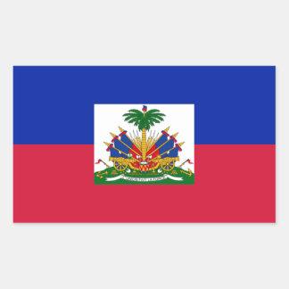 Sticker Rectangulaire d'Haïti de Drapeau - drapeau du Haïti