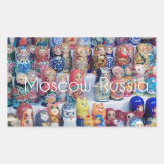 Sticker Rectangulaire dolls_russia