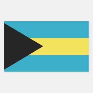 Sticker Rectangulaire Drapeau bahamien classique