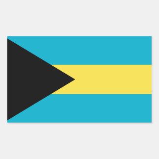 Sticker Rectangulaire Drapeau bahamien patriotique