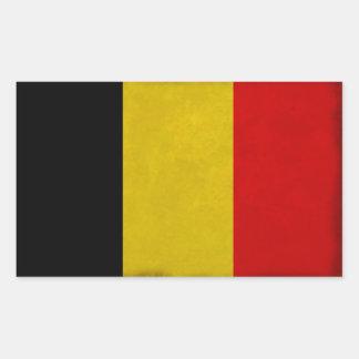 Sticker Rectangulaire Drapeau Belgique Belge