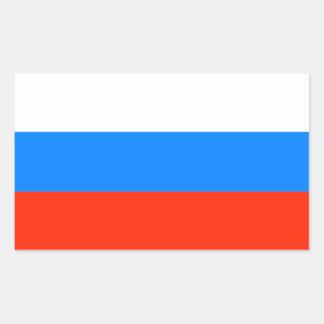 Sticker Rectangulaire Drapeau de Fédération de Russie (1991-1993)
