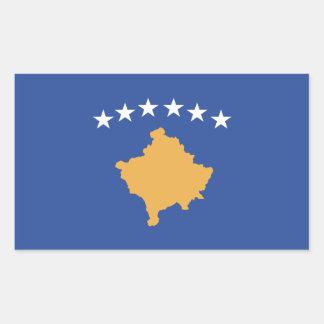 Sticker Rectangulaire Drapeau de Kosovo