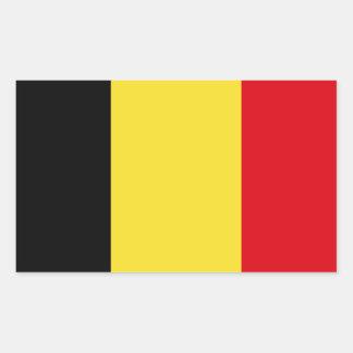 Sticker Rectangulaire Drapeau de la Belgique