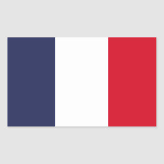 Sticker Rectangulaire Drapeau de la France