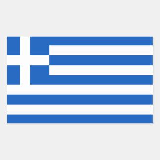 Sticker Rectangulaire Drapeau de la Grèce