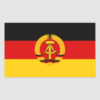 Sticker Rectangulaire Drapeau de la RDA