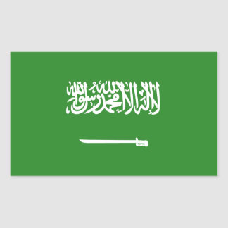 Sticker Rectangulaire Drapeau de l'Arabie Saoudite