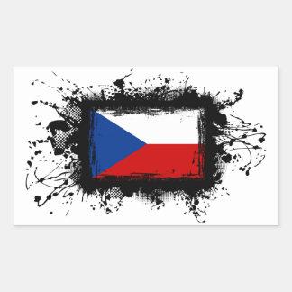 Sticker Rectangulaire Drapeau de République Tchèque