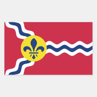 Sticker Rectangulaire Drapeau de St Louis, Missouri