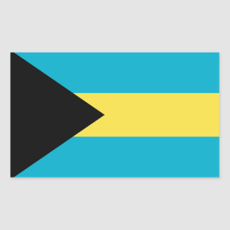 Sticker Rectangulaire Drapeau des Bahamas