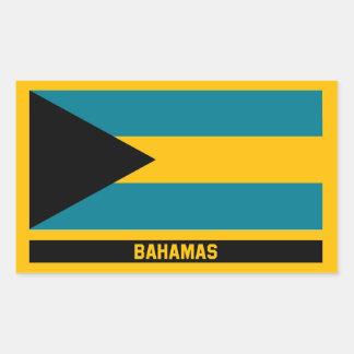 Sticker Rectangulaire Drapeau des Bahamas