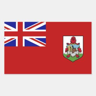 Sticker Rectangulaire Drapeau des Bermudes