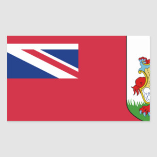 Sticker Rectangulaire Drapeau des Bermudes