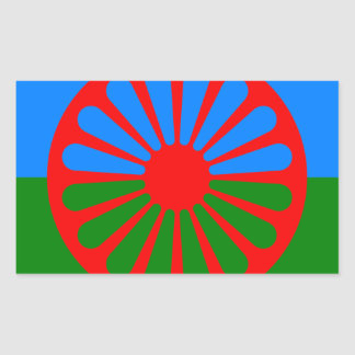 Sticker Rectangulaire Drapeau des personnes Romani - drapeau Romani