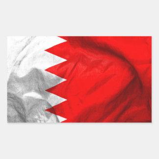 Sticker Rectangulaire Drapeau du Bahrain