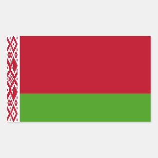 Sticker Rectangulaire Drapeau du Belarus