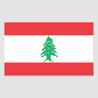 Sticker Rectangulaire Drapeau du Liban