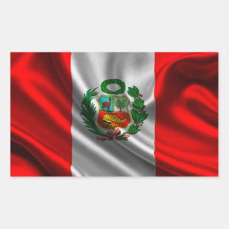 Sticker Rectangulaire Drapeau du Pérou
