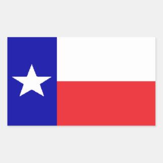 Sticker Rectangulaire Drapeau du Texas