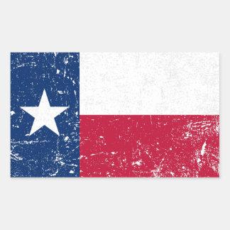 Sticker Rectangulaire Drapeau grunge affligé du Texas