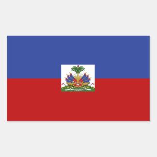 Sticker Rectangulaire Drapeau haïtien classique
