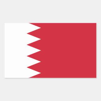 Sticker Rectangulaire Drapeau patriotique du Bahrain