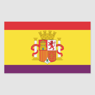 Sticker Rectangulaire Drapeau républicain espagnol - Bandera República