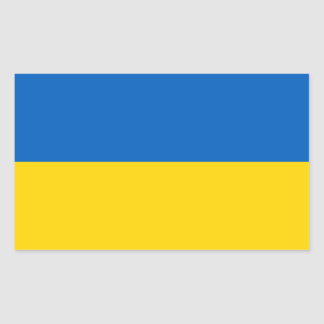Sticker Rectangulaire Drapeau ukrainien