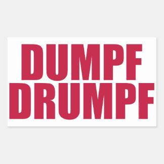 Sticker Rectangulaire DUMPF DRUMPF (rouge sur le blanc)