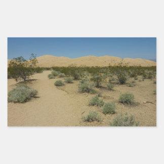 Sticker Rectangulaire Dunes de Kelso au parc national de Mojave
