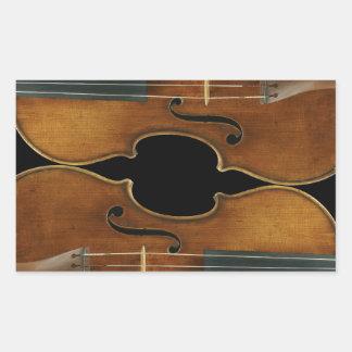 Sticker Rectangulaire Duo de Stradivari