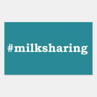 Sticker Rectangulaire écriture blanche #milksharing