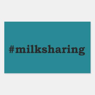 Sticker Rectangulaire écriture noire #milksharing