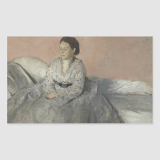 Sticker Rectangulaire Edgar Degas - portrait de Madame Rene de Gas