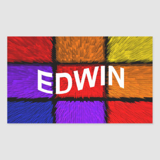 STICKER RECTANGULAIRE EDWIN