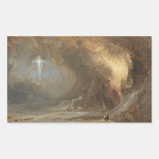 Sticker Rectangulaire Église de Frederic Edwin - vision de la croix