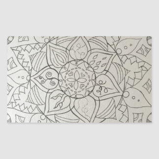 Sticker Rectangulaire éléments de mandala