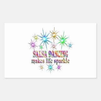 Sticker Rectangulaire Étincelles de danse de Salsa