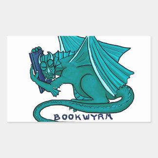 Sticker Rectangulaire Étreinte Bookwyrm de livre