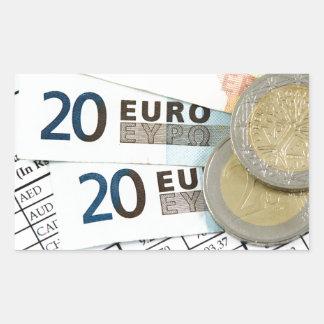 Sticker Rectangulaire Euros