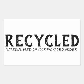 Sticker Rectangulaire Expédition réutilisée de Repurpose employée par