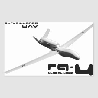 Sticker Rectangulaire Faucon RQ-4 global