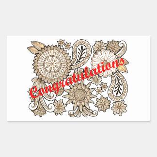 Sticker Rectangulaire Félicitations