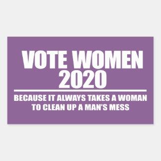 STICKER RECTANGULAIRE FEMMES 2020 DE VOTE