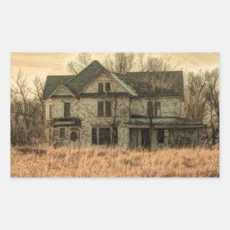 Sticker Rectangulaire Ferme rustique de pays occidental de paysage rural