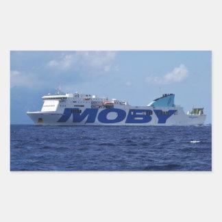 Sticker Rectangulaire Ferry-boat transportant des passagers de roulier